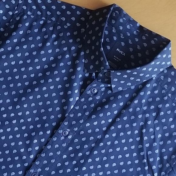 RVCA Mens Mini Paisley Button-Up Shirt